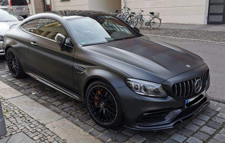 rent a mercedes c63s amg coupe in leipzig