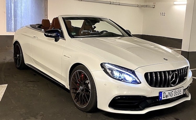 rent an mercedes c63s amg convertible in düsseldorf